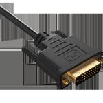 DVI kabli, podaljški in adapterji.