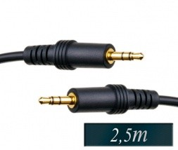 Avdio kabel 3,5mm stereo (m-m) 2,5m