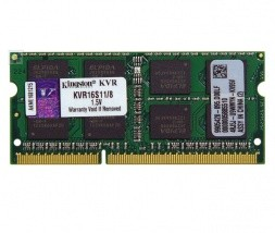 DDR3 204-pin SODIMM 8GB pomnilnik Kingston KVR16S11/8