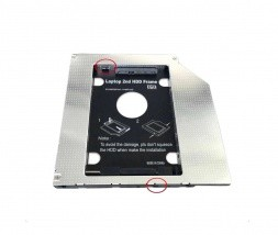 Adapter DVD na HDD 9,5mm s stikalom