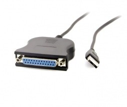 USB - parallel printer kabel 25-pin