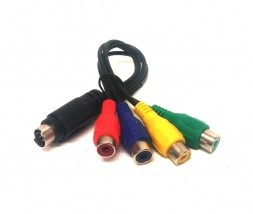 Adapter S-Video 7 pin na TV RCA in 3 x kompozitni