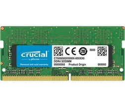 Pomnilnik Crucial 8GB DDR4-2400 SODIMM PC4-19200 CL17, 1.2V Single Ranked